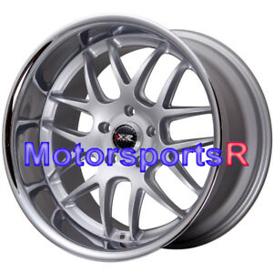 Xxr 526 Wheels 17x9 25 10 20 Silver Deep Dish Lip Rims Staggered 5x114 3 5x4 5