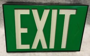 Vintage New In The Box Green Universal Exit Sign By Marco nos free Shipping