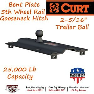 16055 Curt Bent Plate 5th Wheel Rail Gooseneck Hitch With A Gtw Up To 25 000lb
