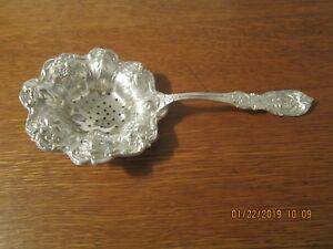 Rare Reed Batron Francis 1 Sterling Tea Strainer
