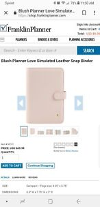 Franklin Covey Compact Planner Love Pink Tabs 2019 Weekly Monthly Pockets Notes