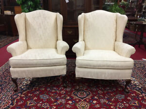 Vintage Pennsylvania House Wing Back Chairs Pair Is 598 Delivery Available