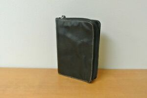 1 10 Rings Compact Unstructured Leather Franklincovey Planner binder Black