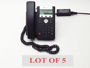 Lot 5 Polycom Ip331 Ip 331 Voip Soundpoint Sip Business Office Phone Telephone