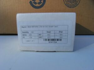 9520 Mifare 2 5k Bit Iso Smart Card Package Of 100 Cards