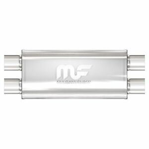 12468 Magnaflow Satin Stainless Performance Muffler 2 5 Dual In Out