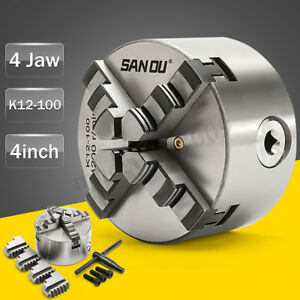 4 Sanou Lathe Chuck 6 Inch 4 Jaw Self Centering Reversible Jaw