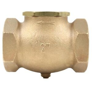 2 In Line Horizontal Check Valve Compressed Air Compressor Wog Solid Cast Brass