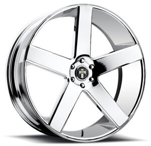 4 New 24 Inch Dub S115 Baller 24x10 6x139 7 6x5 5 31mm Chrome Wheels Rims