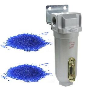 1 Compressed Air In Line Filter Desiccant Dryer Moisture Water Separator New