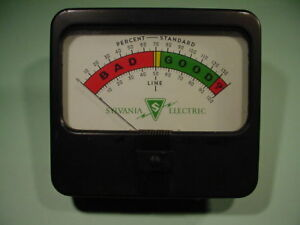 Sylvania Electric Model 140 Tube Tester Display Panel Meter free Shipping