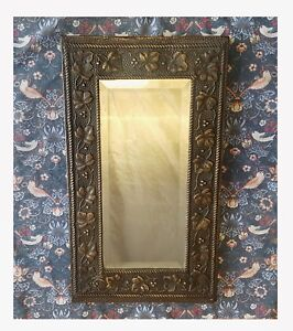 Good Quality Brass Arts And Crafts Art Nouveau Mirror