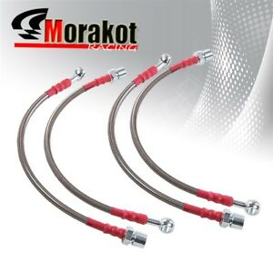 01 05 Is300 Xe10 Stainless Steel Front Rear Oil Brake Line Cable Silver Red