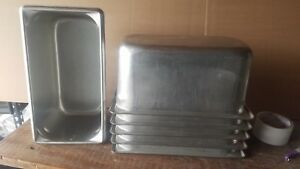 5 Vollrath 1 3 Prep Stainless Steel Steam Pan Table Hotel Buffet 30362