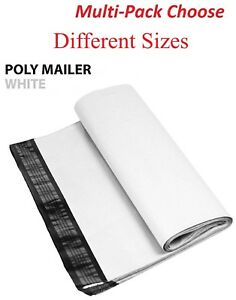 1 1000 Multi pack White Poly Mailers Shipping Envelopes Self Sealing Bags