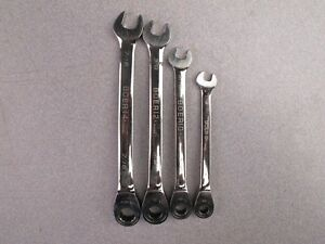 Snap on Bp Boer 4pc Set 12 point Sae Ratcheting Combination Wrench