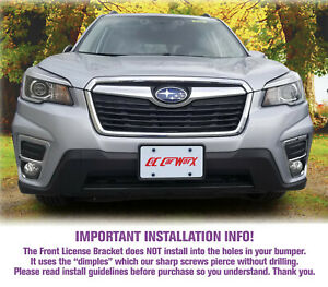 Front License Plate Bracket By C c Carworx To Fit 2019 Subaru Forester Fo 19 fp
