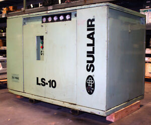 Used Sullair Ls10 40h 40hp Rotary Screw Compressor