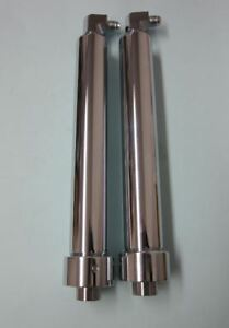 Lowrider Hydraulics Competition Cylinders 16 1 2 Port Chrome Two Elbows