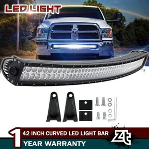 42inch 560w Led Curved Light Bar Offroad Roof Bumper For Dodge Ford Suv Utv 40