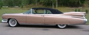 Cadillac All Models 1959 60 Convertible Top Window Black Or White Vinyl