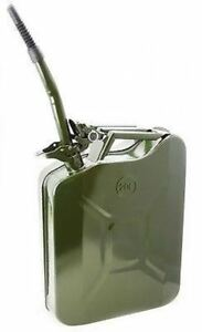 5 Gallon Military Style Gas Jerry Jeep Fuel Can Container