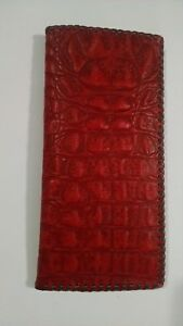 Oil Field Leather Alligator Print Pipe Tally Book Cover 8 75 X 4 Zzz
