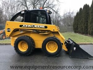 2002 John Deere 270 Rubber Tire Skid Steer Loader Cab Diesel Wheel Tractor