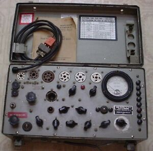 Vintage 1962 Us Army Military Test Set Electron Tube Tester Tv 7b u