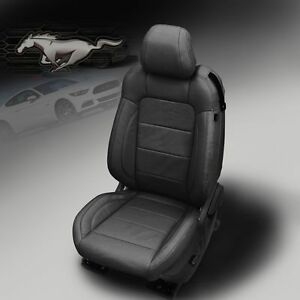 2015 2019 Ford Mustang Gt V6 Eco Coupe Katzkin Black Leather Seat Covers Kit
