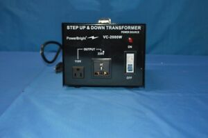 Power Bright 2000w Step Up down Voltage Transformer Model vc2000w