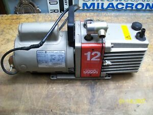 Edwards 12 Two stage High Vacuum Pump W Ge 3 4 Hp Ac Motor 5kc45p1738t See Below