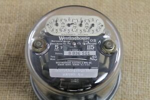 Vintage Westinghouse Ob Watthour Power Meter Industrial 5 Amp 115 Volts