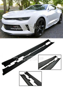 For 16 up Camaro Ss Rs Zl1 Style Abs Side Skirts Panels Primered Black Body Kit