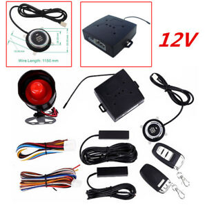 Keyless Entry Car Alarms Security Systems Engine Ignition Push Button Start Stop