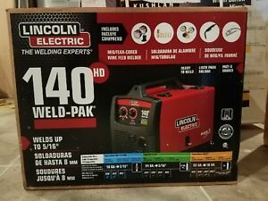 Lincoln Electric Weld pak 140hd Wire Feed Welder K2514 1 brand New