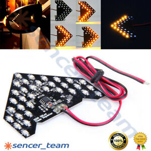 12v 33 smd Sequential Led Arrows Panel For Car Side Mirror Turn Signal Light