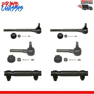 4 Front Tie Rod Ends 2 Sleeves Chevy Belair One Fifty Series Two Ten 55 57
