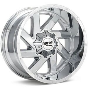 20 Inch Chrome Wheels Rims Lifted Ford Truck F250 F350 Moto Metal Mo988 20x9 New