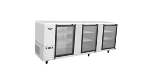 Atosa Mbb90g 90 Back Bar Beer Cooler Stainless 3 Glass Door Free Lift Gate Del