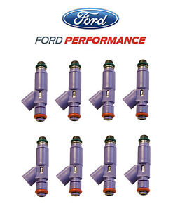 2005 2010 Mustang Gt Mustang 24 Lb Pound Fuel Injectors Ford Racing M 9593 lu24a