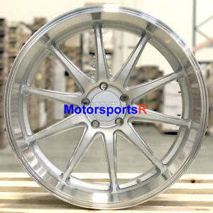 Xxr 527d 18 X9 10 5 20 Silver Staggered Wheels Rims 5x4 5 94 98 Ford Mustang Gt