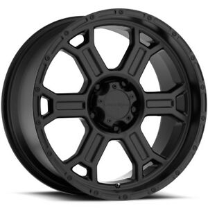 4 Vision 372 Raptor 18x9 5 5x150 25mm Matte Black Wheels Rims 18 Inch
