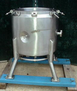 Four Corp Stainless 35 Gallon Jacketed Reactor Tank 130 Liter Fourinox