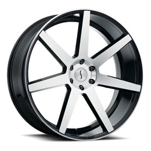 26 Inch 26x10 Status Journey Black Machined Wheel Rim 6x135 30
