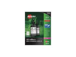 Avery Ultraduty Ghs Chemical Labels For Laser Printers 60506 Waterproof Uv