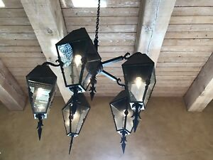 Reduced Impressive French Gothic Five Light Chandelier