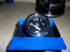 Used 90 Ohm Moon Eyes Fuel Gage 55 Chevy Gasser Hot Rod Rat Rod