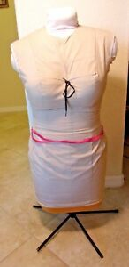 Uniquely Vintage Dress Form Mannequin Adjustable Sewing Seamstress Woman Size 14