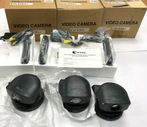 Sony Color Security Conference Video Camera Lot Of 3 Cameras Evi d30 Ptz
